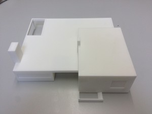 Formando 3D printing portfolio - scale model house architect Hasselt-3D scan and print