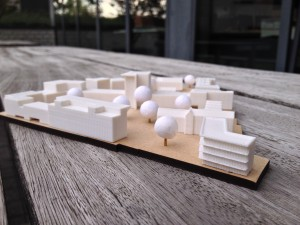 Formando 3D printing portfolio realisatie - Maquette architect wijkontwikkelingsproject Beringen