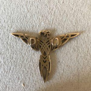 3D printed jewel eagle bronze