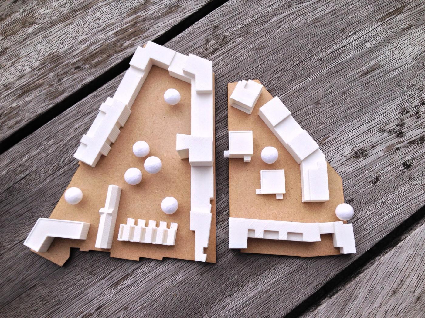 Formando 3D printing portfolio realisatie - Maquette architectenbureau Beringen