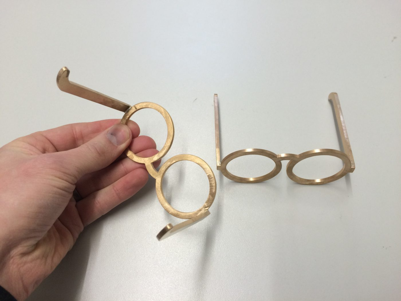 Formando portfolio - ontwerp en 3D print van bril in brons