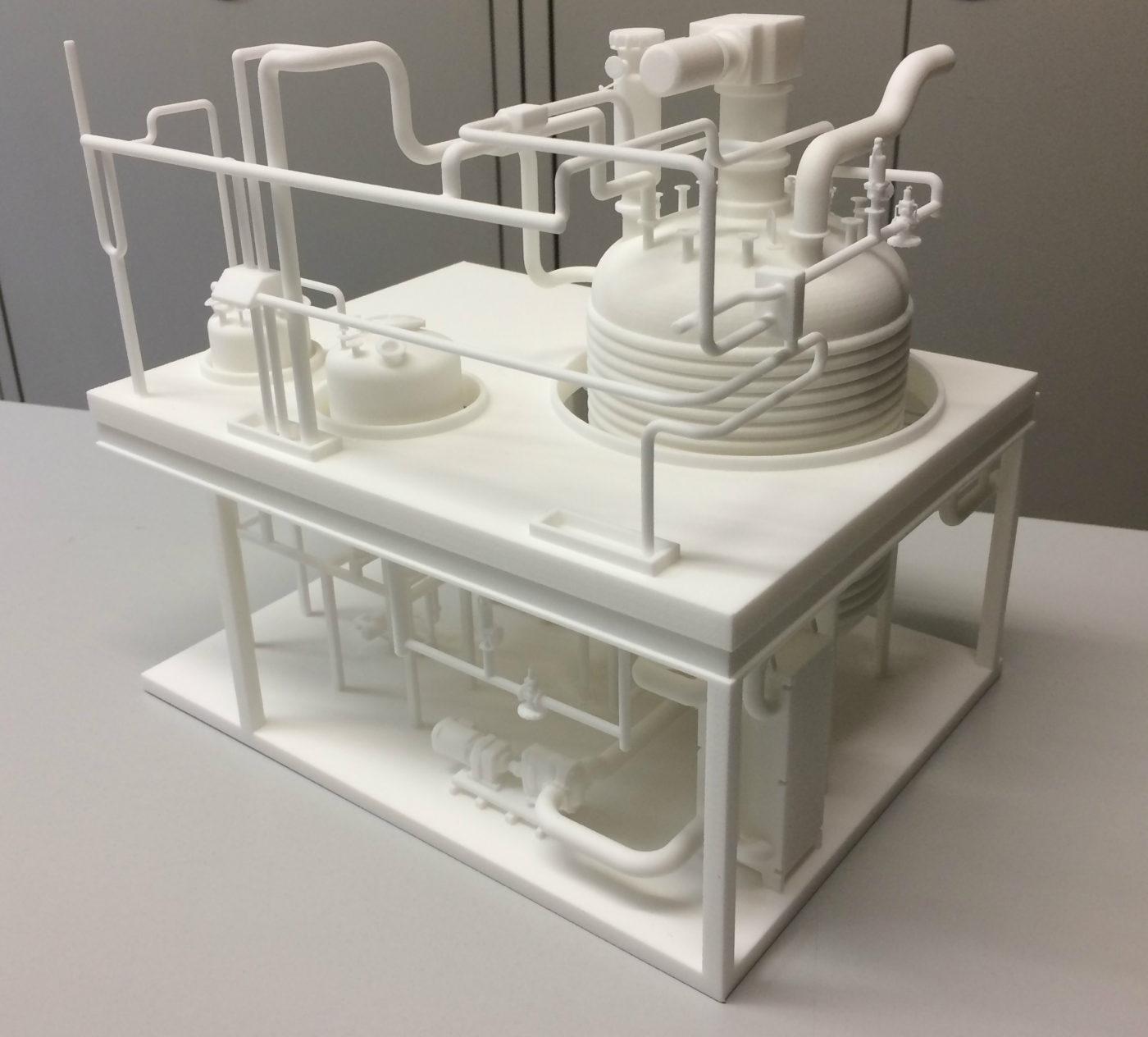 schaalmodel reactor opstelling_3D print Formando