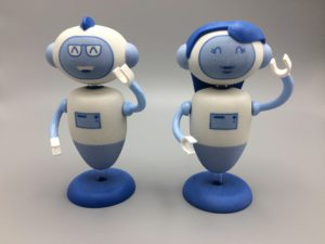 3D mascotte op basis van logo