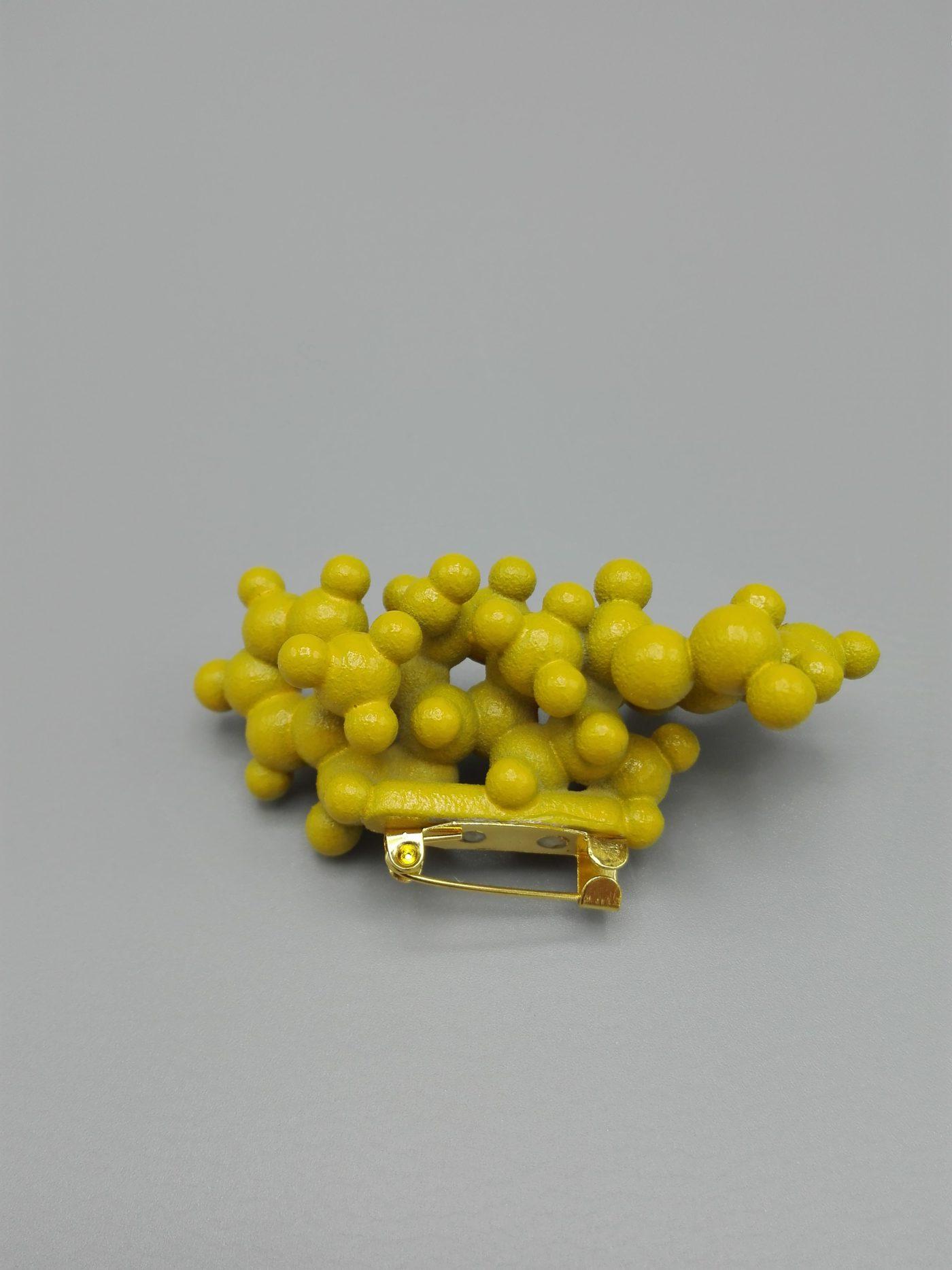 3D geprinte broche van molecule